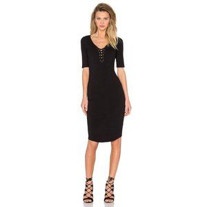 Monrow X Revolve Jersey Lace Up Dress X-Small Nwt